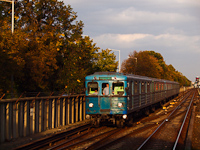 A BKV class Ev trainset seen on underground line M2 between Örs vezér tere and Pillangó utca