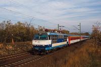 A ZSSK 350 014-7 Vác-Alsóváros és Sződ-Sződliget között