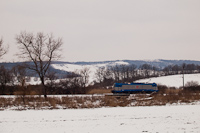 The ČD 380 017-4 multi-system electric locomotive is undergoing its test runs in Hungary – photo taken on line 77 between Váckisújfalu and Galgamácsa