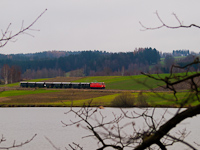 The NÖVOG V12 (ex ÖBB 2095.012) seen between Weitra and Alt-Weitra