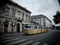A BKV-made articulated historic tramcar nickname Bengáli seen on Krisztina körút