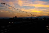 HÉV a naplementében Pannóniatelepnél