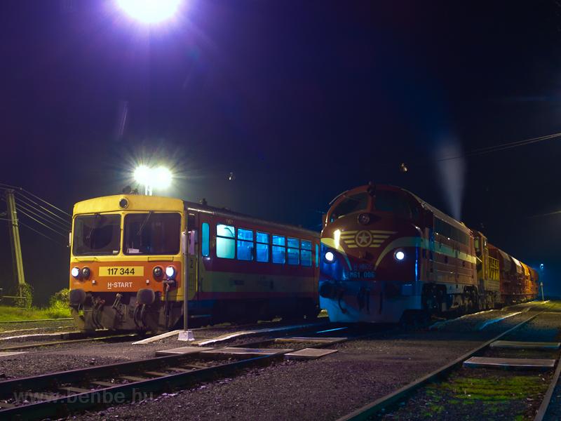 A MÁV-START 117 344 és a MÁ fotó