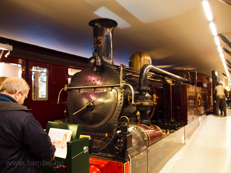 The steam locomotive of the picture