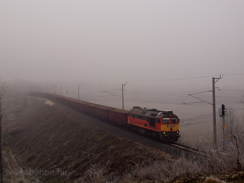 The MÁV-START 628 312 seen hauling a sugar beet freight train near Vasvár photo
