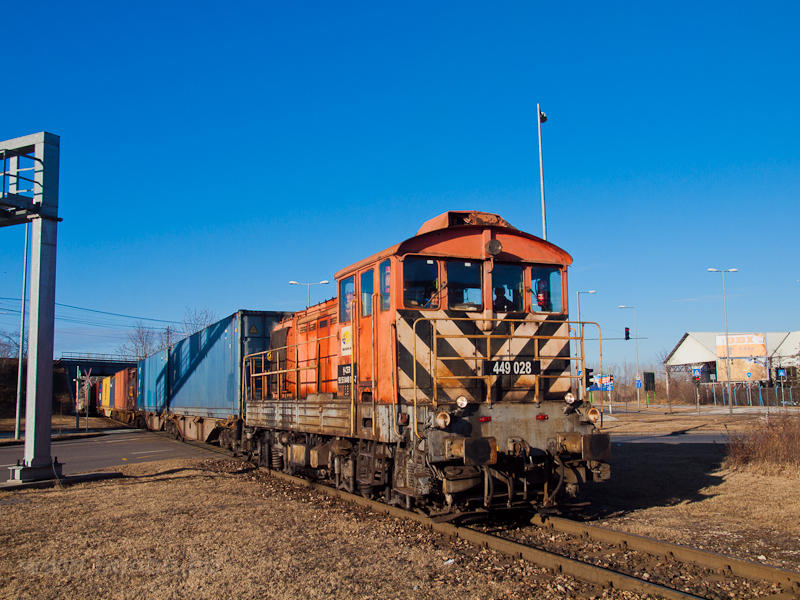 Container train near the fr photo