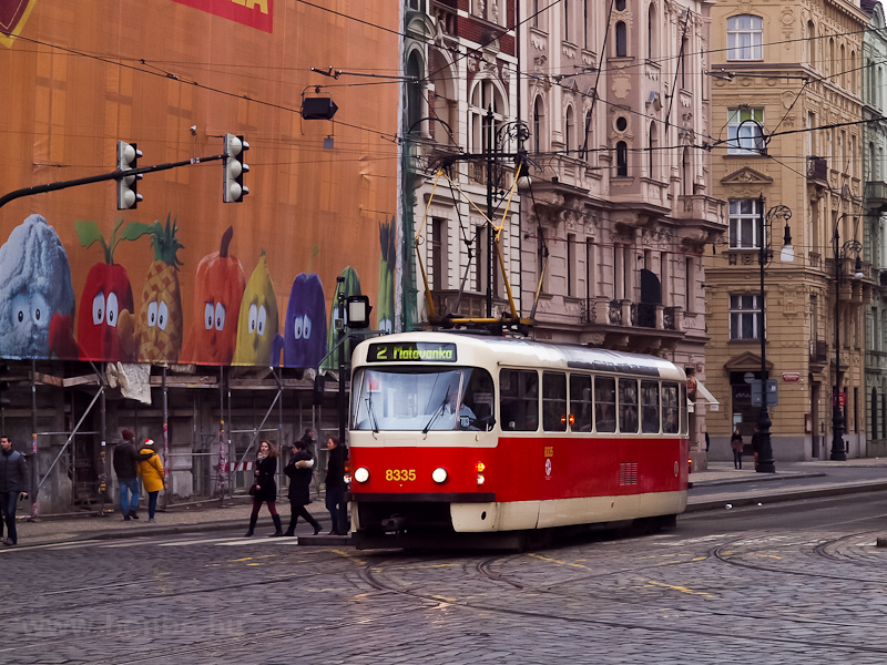 Tatra T3 number 8335 seen i picture