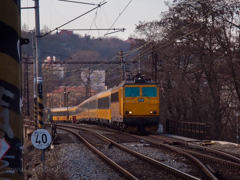 A RegioJet train arriving a photo