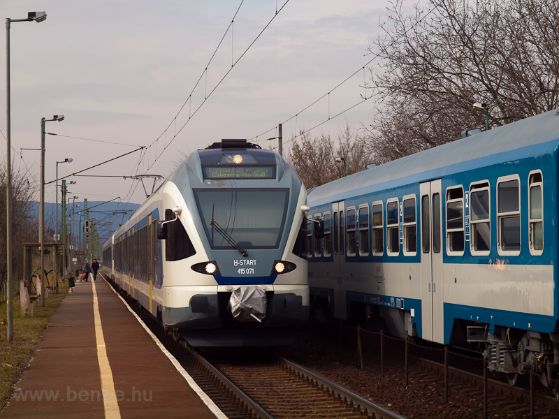 The MÁV-START 415 071 seen  photo
