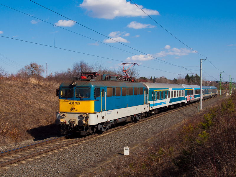 A MÁV-START 431 189 a Citad fotó