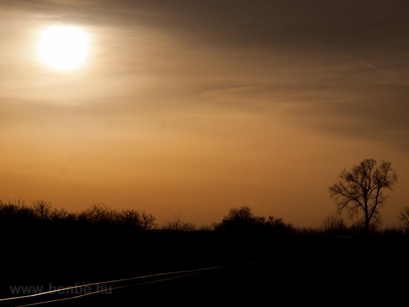 Sötétbe vesző sínek  fotó