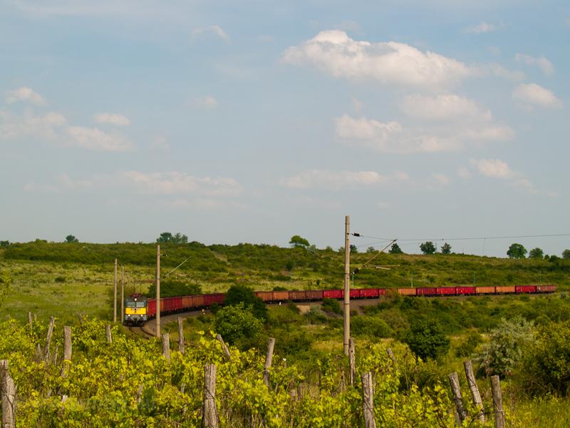 A coal train hauled by a cl photo