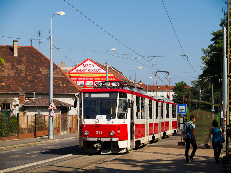 The old red-white Tatra KT8 photo