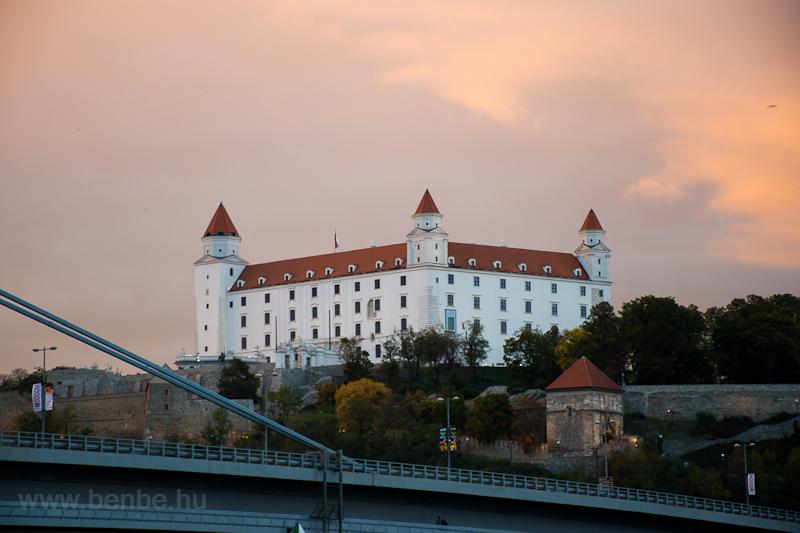 Bratislava castle during su picture