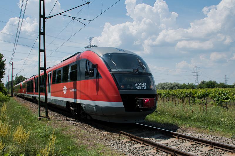 A MÁV-START 426 022 pályaszámú Desiro motorvonat a Ráckevei HÉV-en Egyetemi Tangazdaságnál fotó
