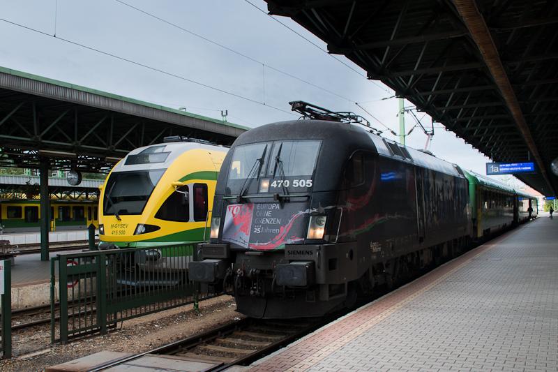 A Gysev 470 505 Taurus és a 415 500 Flirt Sopronban  fotó