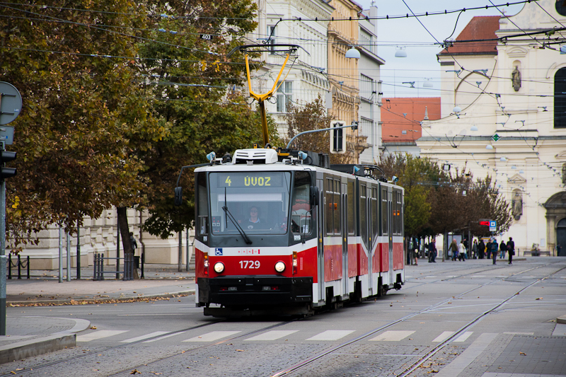 A refurbished KT8D5 type tram at Brno photo