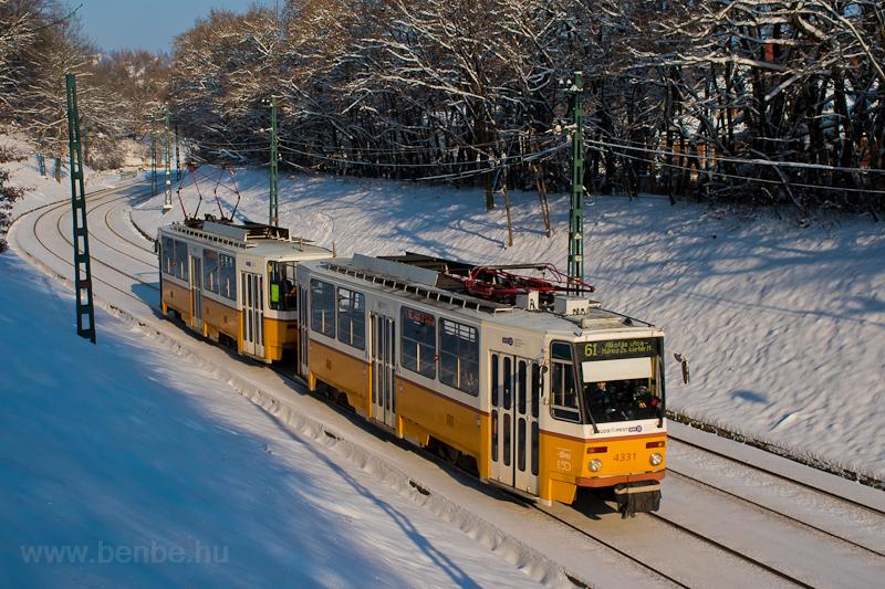 A BKV 4331 pályaszámú, Tatra T5C5K2 típusú villamosa a 61-es vonalon Hűvösvölgy és Heinrich István út között  fotó