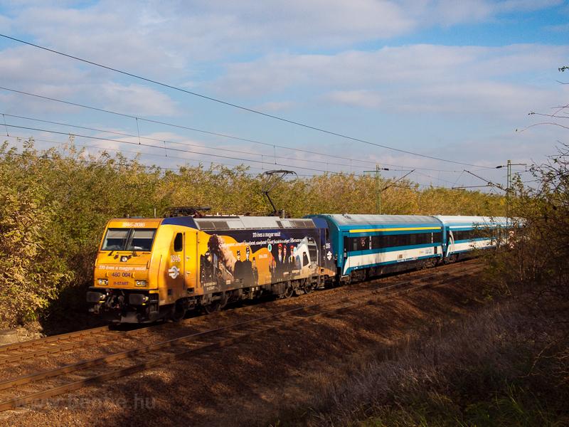 A MÁV-START 480 004  170 éves a magyar vasút  3G InterCity-kocsikkal Vámosgyörk és Hort-Csány között  fotó