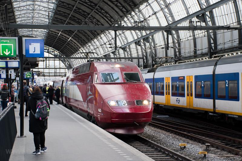 Thalys PBA szett Amsterdam Centraal állomáson, az egyik holland főváros főpályaudvarán  fotó