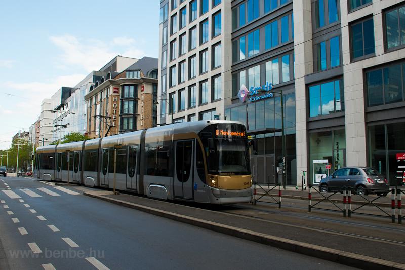 A Brüsszeli 3109 pályaszámú villamos  fotó