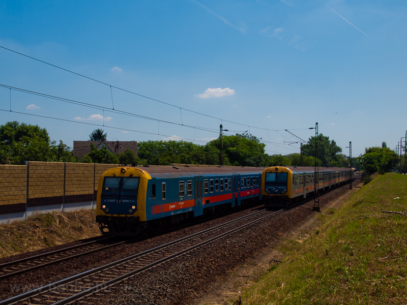 Passing of identical trains photo