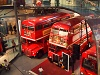 Routmaster double-decker buses at the London Transport Museum