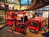 A London Transport Museum Routemaster emeletes buszai (Londoni Közlekedési Múzeum)