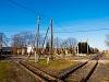 A Csömödéri Erdei Vasút és a nagyvasút keresztezése Lentinél