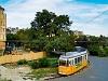 17-es villamos tárol a régi Margit hídi hurokban