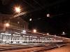 Békéscsaba vasútállomás felvételi épülete éjjel