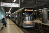 Brüsszeli villamos  a pré-métro szakasz végén