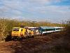 A MÁV-START 480 004 <q>170 éves a magyar vasút</q> 3G InterCity-kocsikkal Vámosgyörk és Hort-Csány között