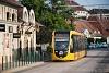 A 2227 pályaszámú CAF villamos a Bécsi úton a 17-es vonalon