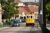 A BKV Budapest 2806 pályaszámú, favázas villamosa a Bécsi úton