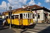 The BKV wood frame historic tram number 2806 is seen in its last operating condition and livery at Kolosy tér