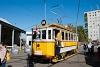 A BKV/BSzKRt 1820 pályaszámú, favázas nosztalgia villamosa Budafokon, a nyílt napon