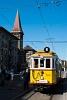 A budapesti BKV 2806 pályaszámú, favázas nosztalgia-villamosa pótkocsival az Újbuda-Központ (ex. Lágymányosi lakótelep-Fehérvári út) végállomáson