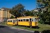 A BKV Budapest 2806 pályaszámú, favázas villamosa fotósmeneten a Tabánban a Krisztina körúton