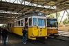 A BKV 2624 pályaszámú, füzesi acélvázas nosztalgiavillamosa a nyílt napon Budafok kocsiszínben