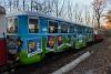Legyél te is gyermekvasutas! - reklámfestésű kocsi (Werbewagen) a Gyermekvasúton