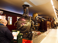 The steam locomotive of the Metropolitan Railway at the London Transport Museum