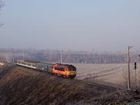 A 418 328 pályaszámú Hörgő Vasvár és Pácsony között Ekkor a 17-es számú vasútvonal villamosítása Szombathely és Zalaszentiván között már elkészült, de elegendő mozdony még nem állt rendelkezésre, így elvileg csak a személyvonatok voltak FLIRT-ök (mint kiderült, aznap az sem). A pécsi gyorsok ma is kormoznak a drót alatt, mivel túl rövid szakasz lett csak villamosítva.
