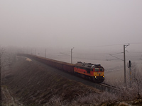 A MÁV-START 628 312 pályaszámú Remot-Szergej cukorrépa-vonattal Vasvárnál