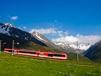 I managed to catch a Matterhorn-Gotthardbahn ABeh 4/8 railcar far from its usual work area: this time, between Nätschen and Andermatt