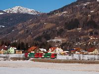 Az STLB Murtalbahn VT35/VS43 motorvonata St. Lorenzen ob Murau Ostnál