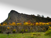 The Hegyestű basalt formation in autumn colours