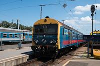A 8005 402 (BDt 402) pályaszámú, Ganz gyártmányú Fecske vezérlőkocsi a Nyugati pályaudvaron
