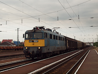 The V43 1097 is seen hauling a freight train through Nyékládháza
