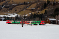 Az StLB Murtalbahn VS43/VT31 motorvonata Kreischberg-Talstationnál